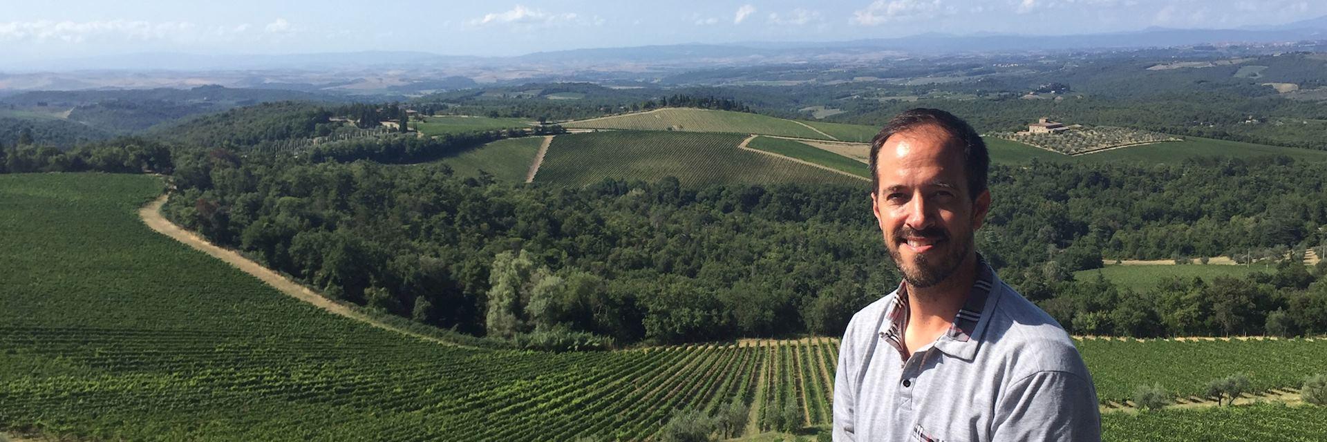 Jeffrey in Tuscany, Italy