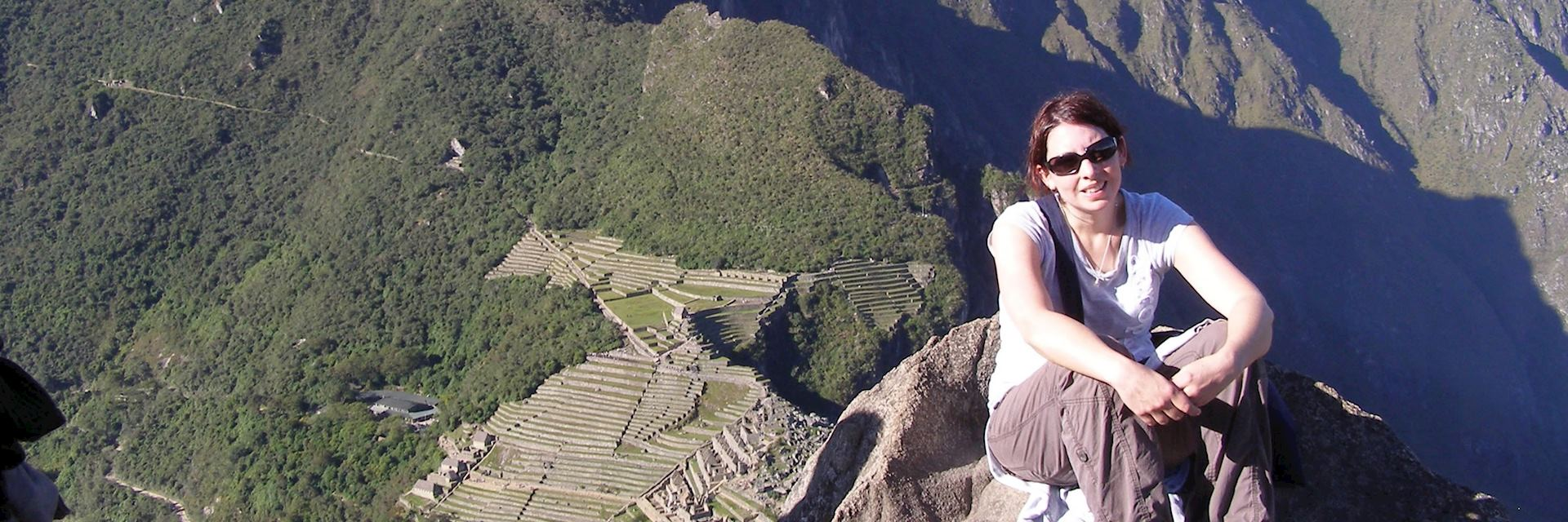 Joanna at Machu Picchu in Peru