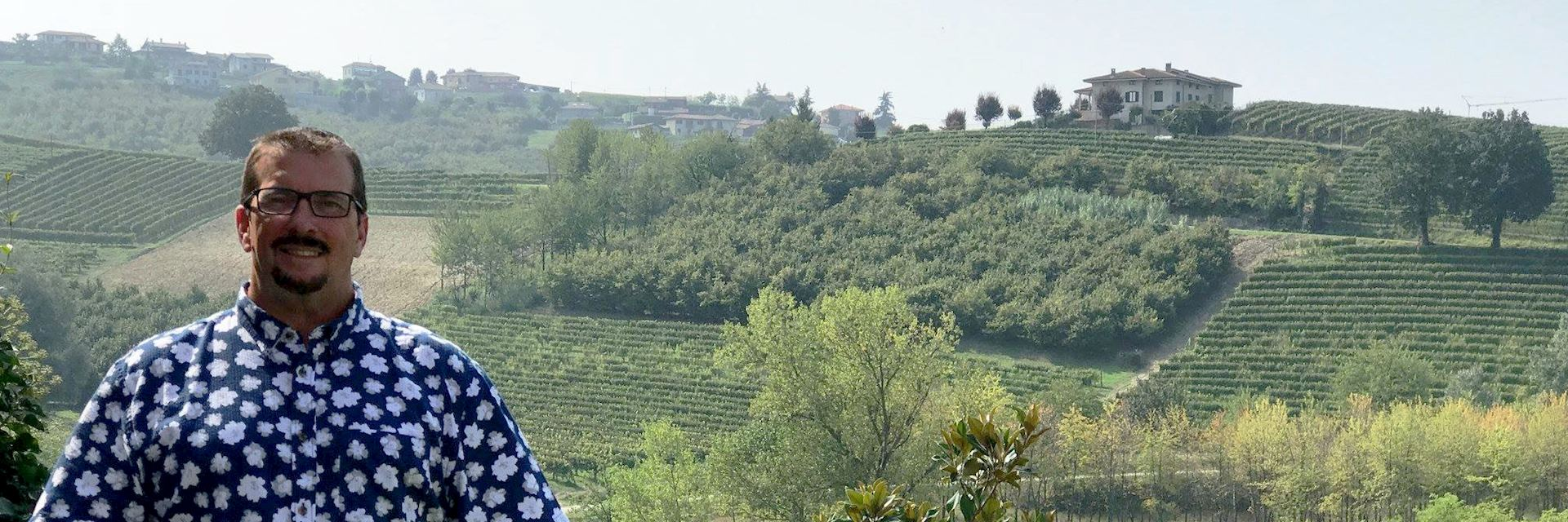 Joe at a vineyard in the Piedmont region, Italy