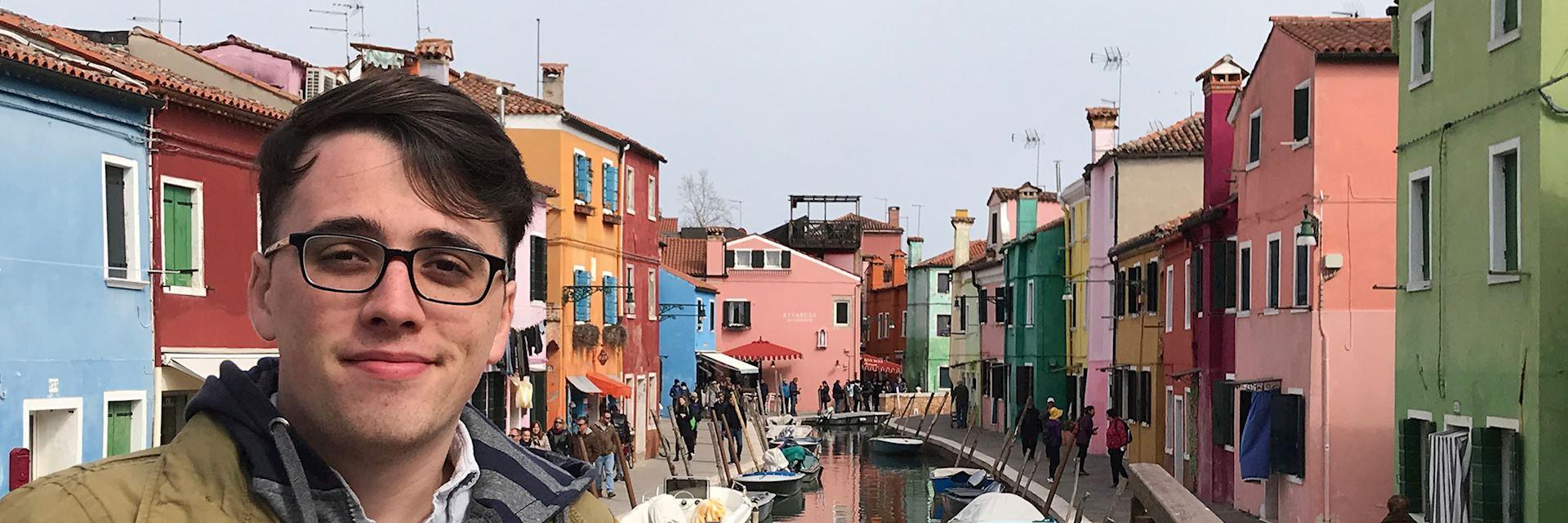 Joe in Burano, Italy