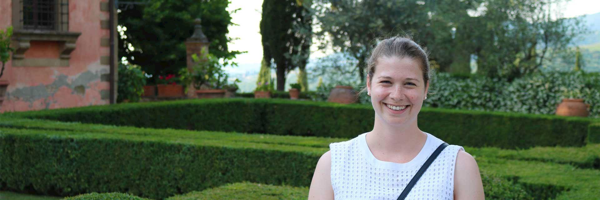 Julia at Vignamaggio Gardens