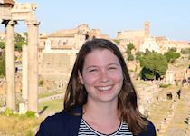Julia in Rome at the Roman Forum