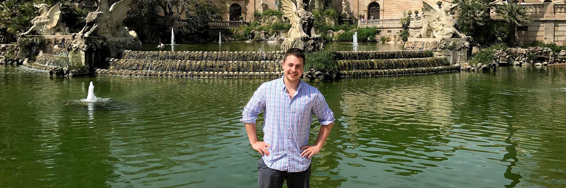 Kevin visiting Ciutadella Park, Spain