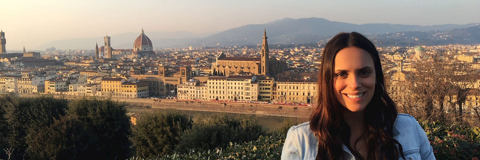 Samantha at Piazza Michelangelo, Florence