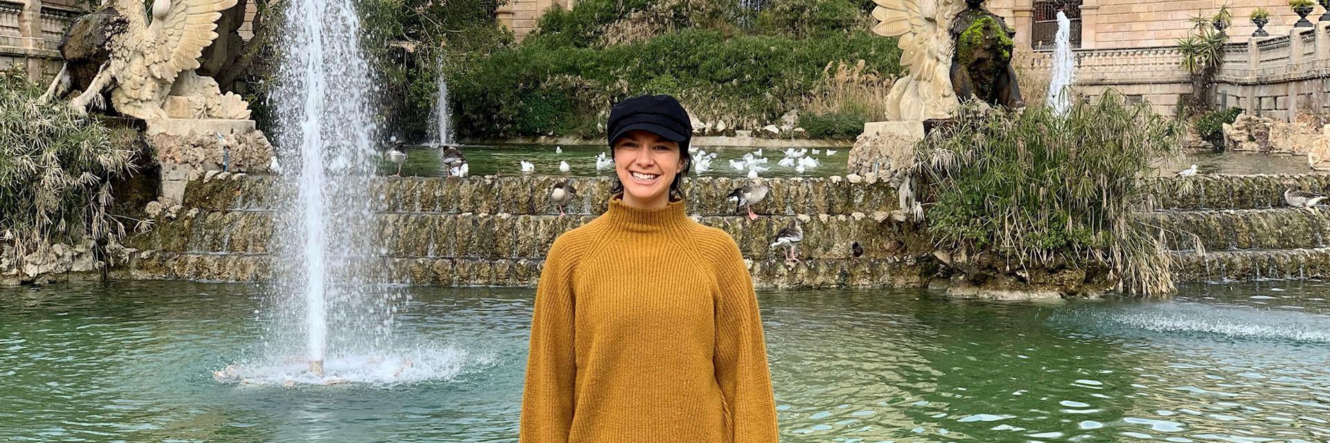 Samantha in Ciutadella Park, Barcelona