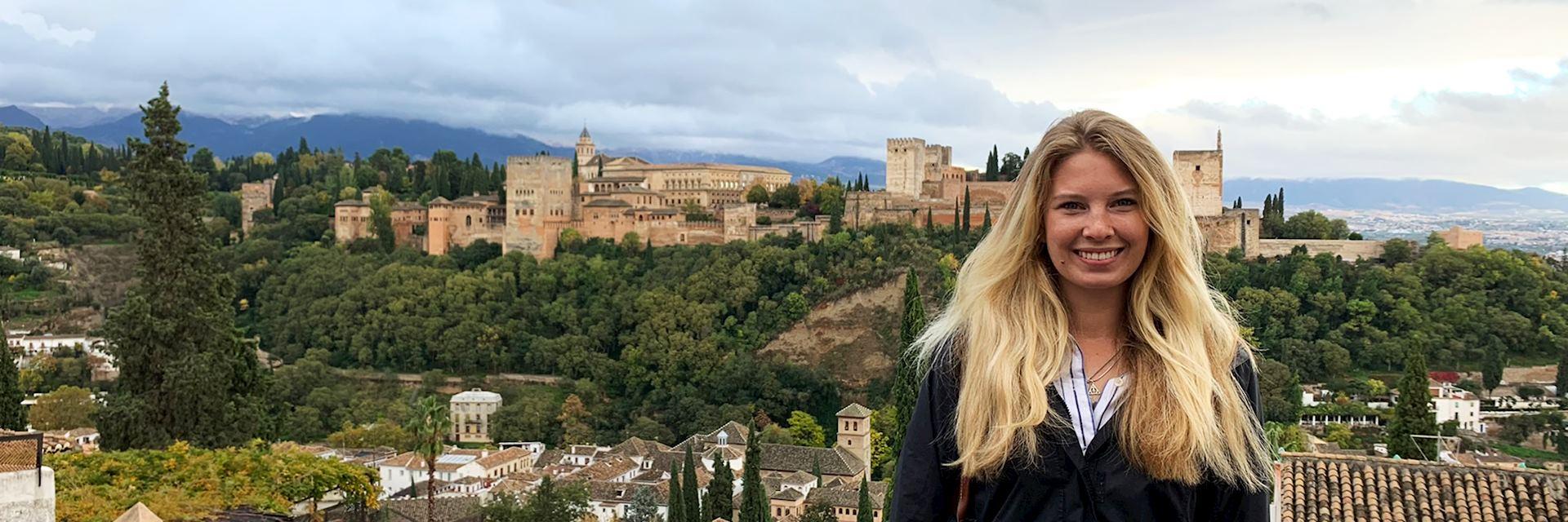 Sarah at the Alhambra, Granada, Spain