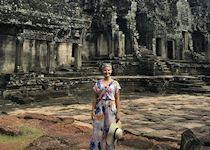 Anna visiting Angkor Thom, Cambodia