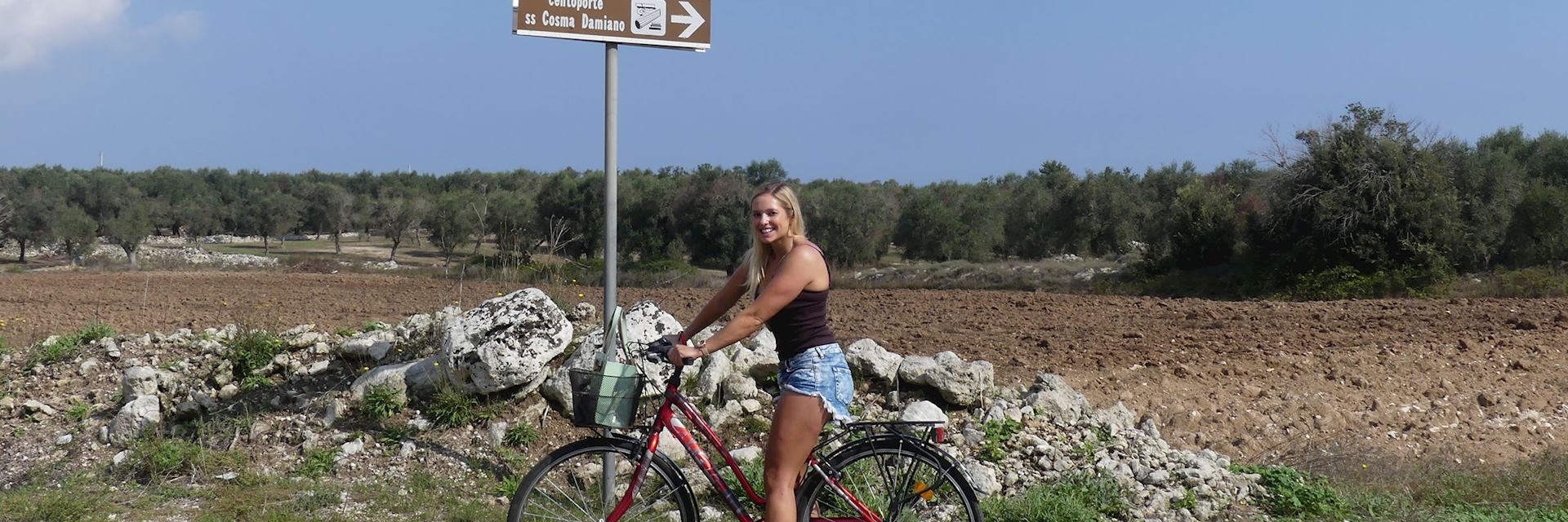 Layla on a cycle tour in Otranto