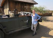 Lucy on safari in Nathambo, South Africa