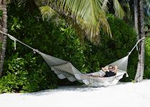 Matt relaxing in the Maldives