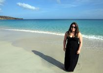 Natalie on the beach in Grenada