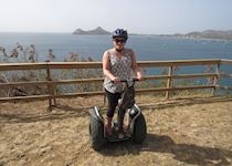 Natalie on a two-wheel Segway tour in St Lucia