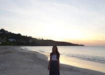 Sarah on Grand Anse Beach, Grenada