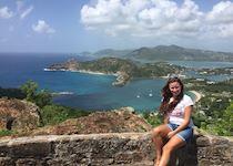 Sarah at Shirley Heights, Antigua