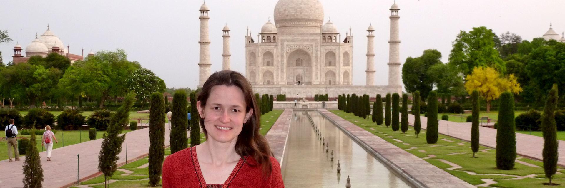 Alison at the Taj Mahal
