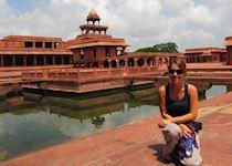 Carol at Fatehpur Sikri, India