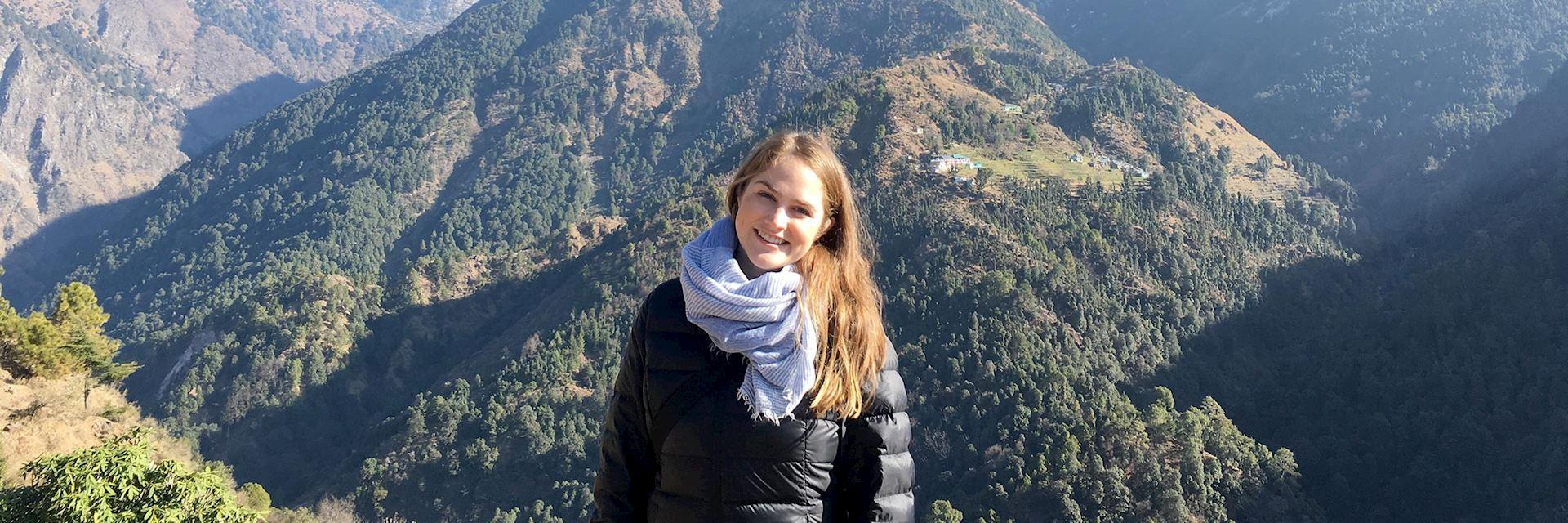 Hannah in Dharamshala, India