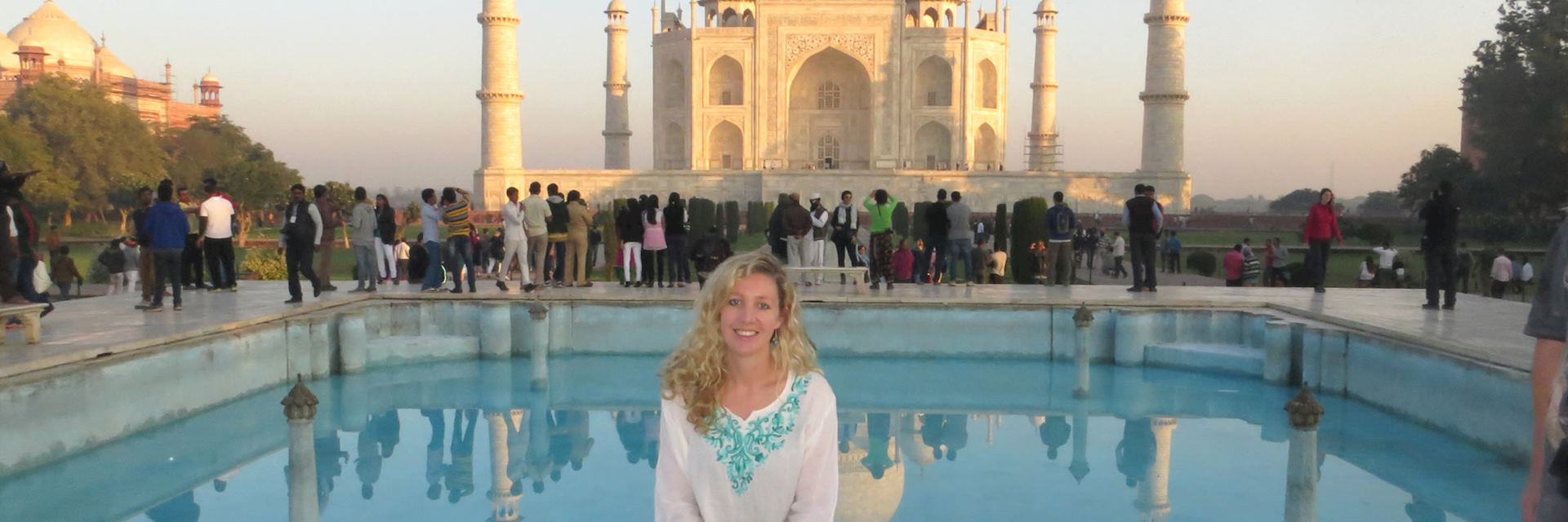 Hannah at the Taj Mahal in Agra, India