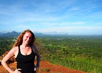 Hattie atop Sigiriya Rock Fortress, Sri Lanka
