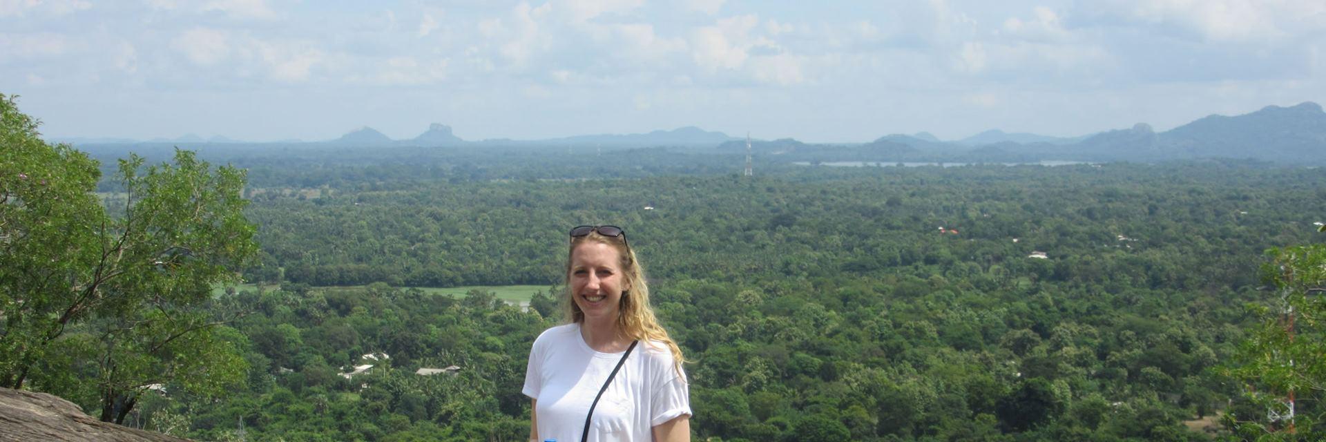 Heather at Dambulla Caves, Sri Lanka