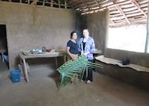 Heather visiting a village on the Sigiriya Tour, Sri Lanka