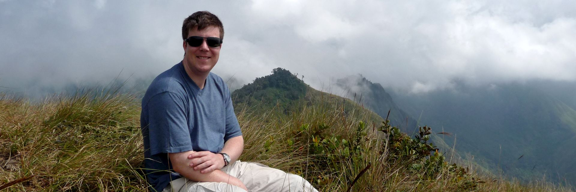 James enjoying the view in Munnar, India