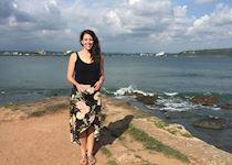 Jen at Galle Fort, Sri Lanka
