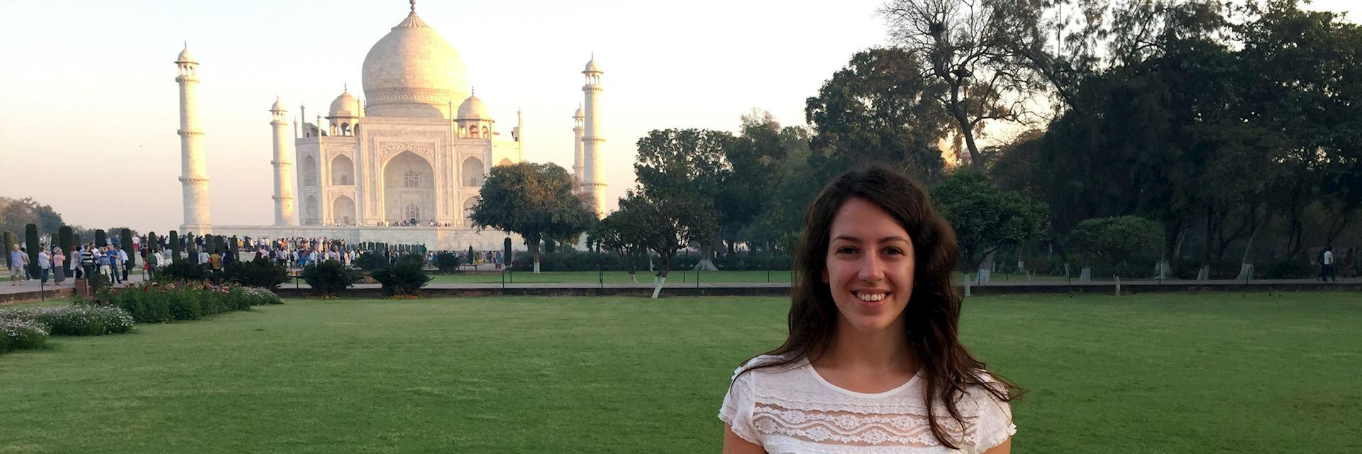 Jen at the Taj Mahal, India