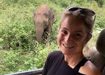 Katherine in Udawalawe National Park, Sri Lanka