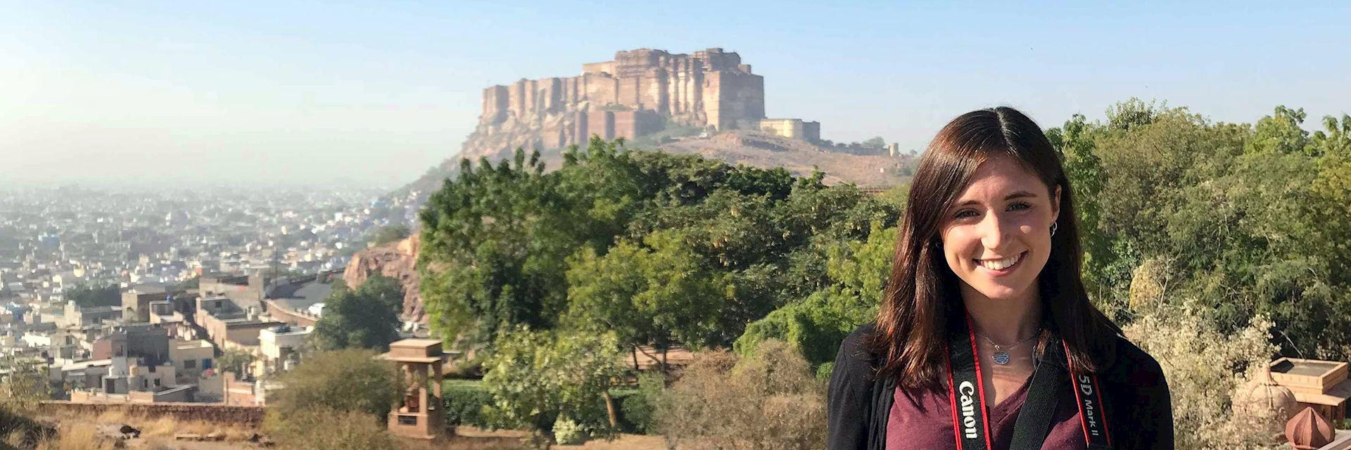 Lydia visiting Jodhpur, India