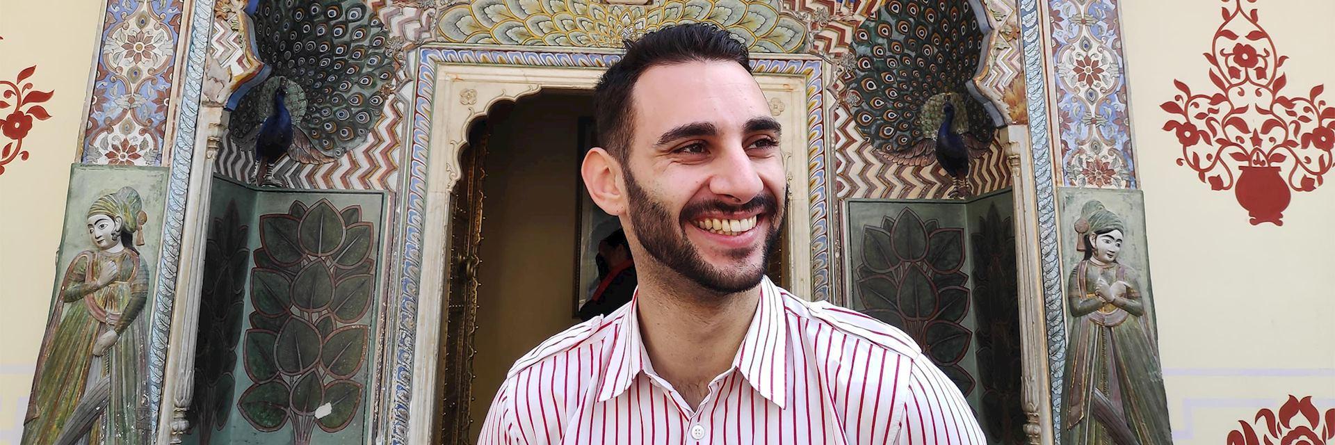 Marco at Jaipur City Palace, India