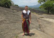 Matt after climbing up to the Dambulla Caves, Sri Lanka