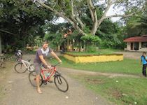 Matt on a cycling excursion in Kerala, India