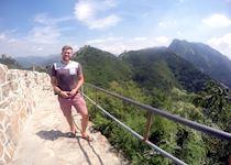 Matt on the Great Wall of China