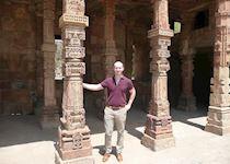 Niall at the Qutub Minar in New Delhi, India