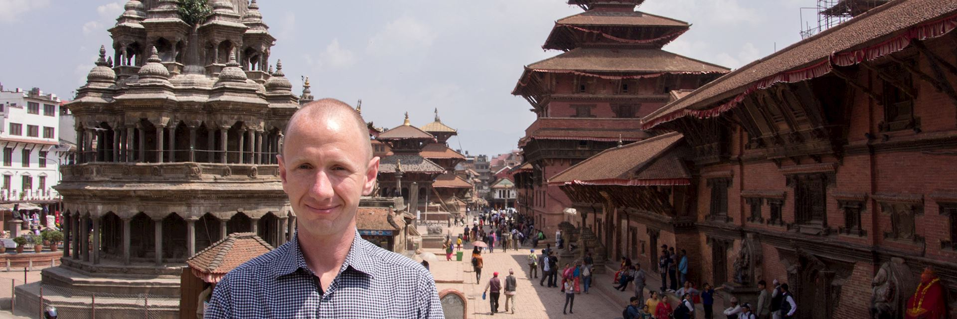 Nick in Patan's Durbar Square, Nepal