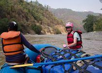 Nick rafting on the Seti River, Nepal