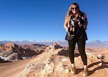 Aliza in the Moon Valley, Atacama Desert, Chile