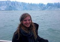 Aliza visiting Perito Moreno Glacier, Argentina