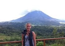 Anna at Arenal Volcano, Costa Rica
