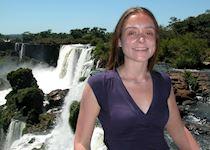 Anna at Iguaçu Falls, Brazil