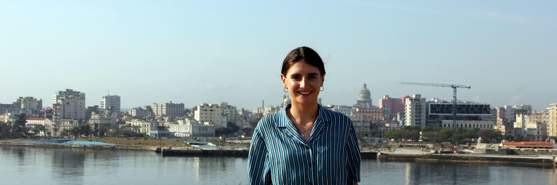 Caitlin in Havana, Cuba