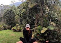 Carly at the Hummingbird Sanctuary in Mindo, Ecuador