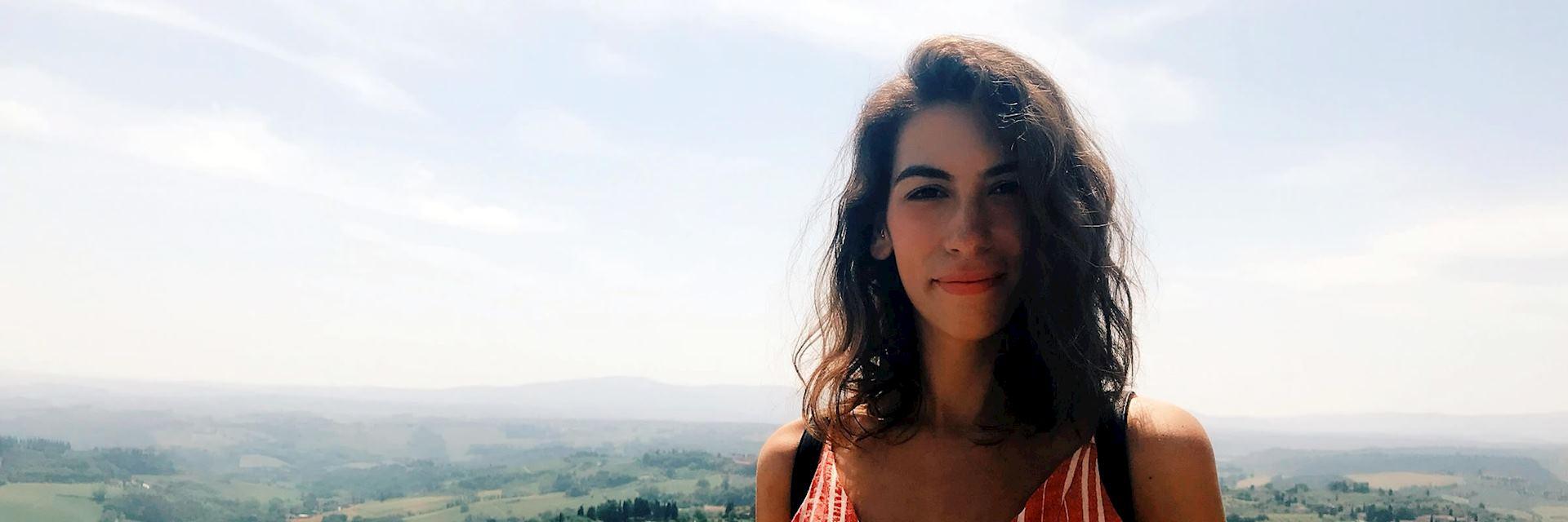 Carly in Tuscany, Italy