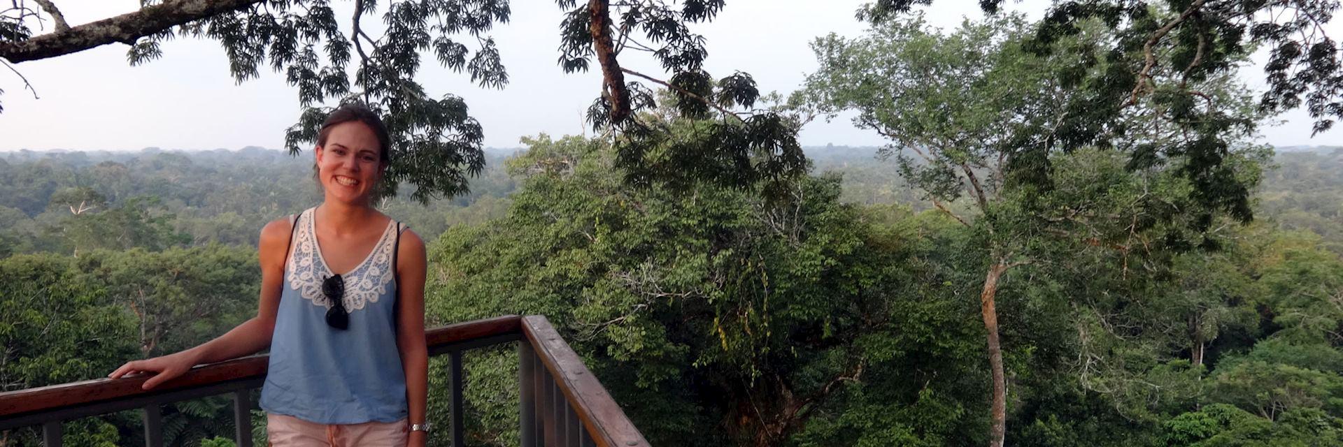Carolina at Canopy Tower at Sacha Lodge, Ecuador