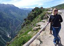 Caroline in Colca Canyon, Peru