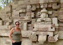 Carolyn at Rastrojon ruins, Copan, Honduras