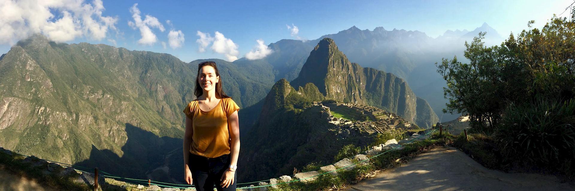 Catherine at Machu Picchu, Peru