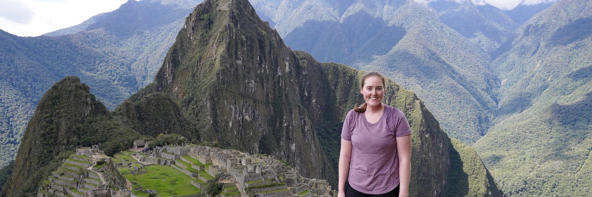 Charlotte at Machu Picchu, Peru