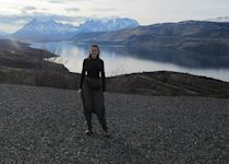 Chloe taking in Torres del Paine in Chile